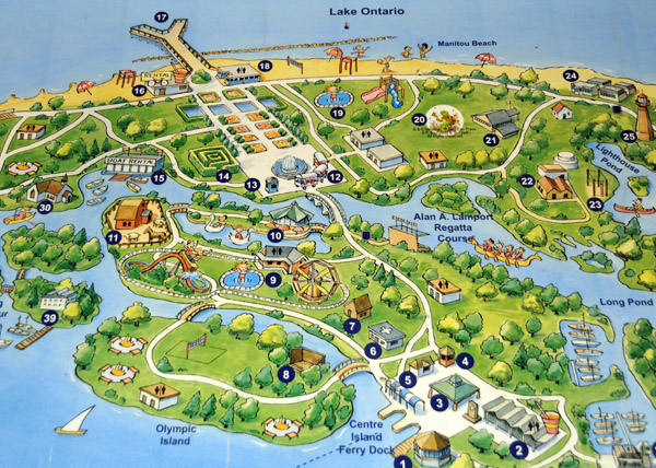 Centre Island Map Free Things to Do on Toronto Islands Centre Island   Solo Mom  Centre Island Map