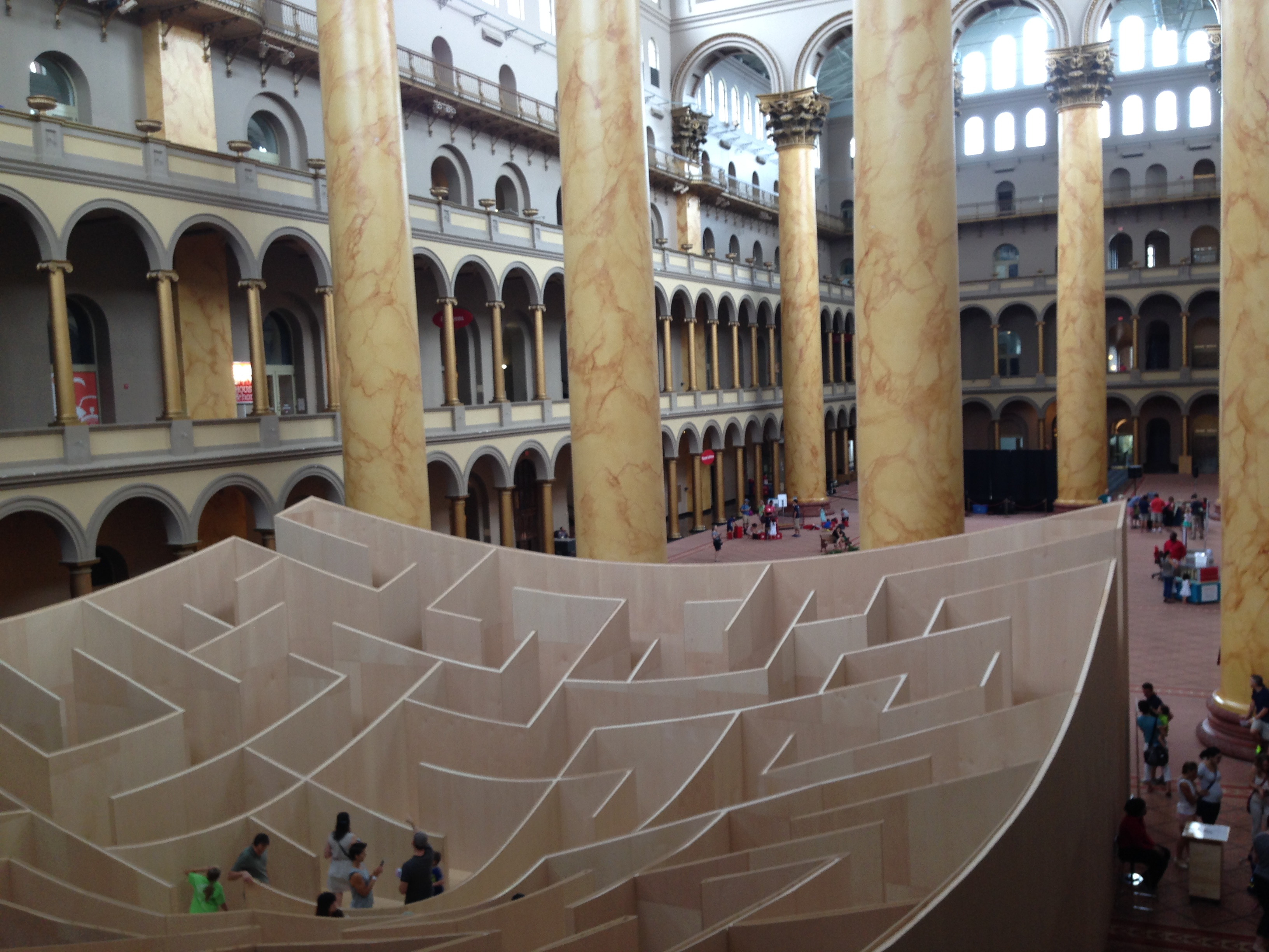 National building museum in washington dc solo mom for Builders to build a house