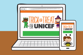 Online fundraising Unicef