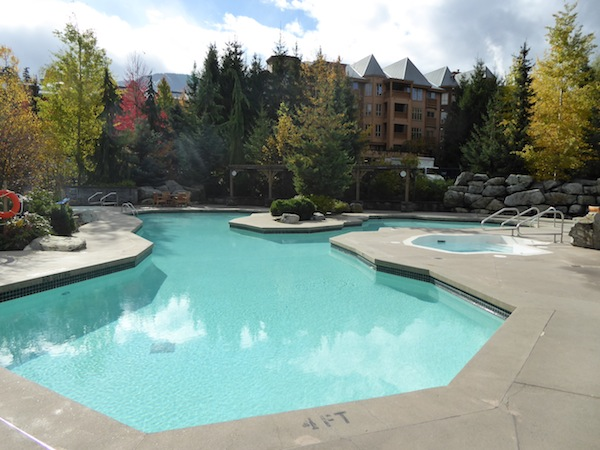 The hotel pool and hot tubs are open year round.