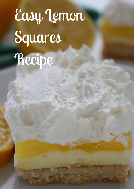 Quick and delicious easy lemon squares. Perfect for summer.