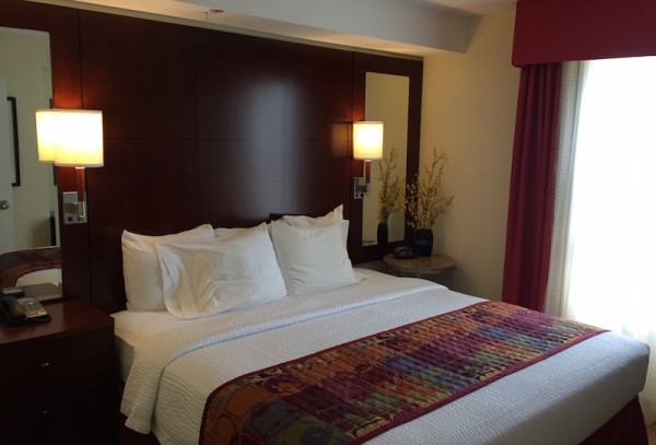 Large bedroom at Residence Inn in Gravenhurst Muskoka