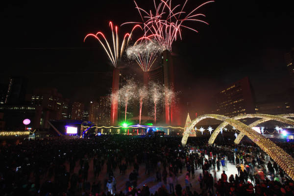 The Cavalcade of Lights November 28, 2015 at Nathan Philips Square Toronto
